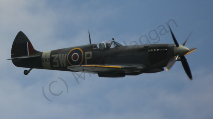 A Supermarine Spitfire over Silverstone