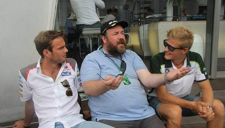 Giedo van der Garde, Marcus Ericsson and me at the 2014 German Grand Prix