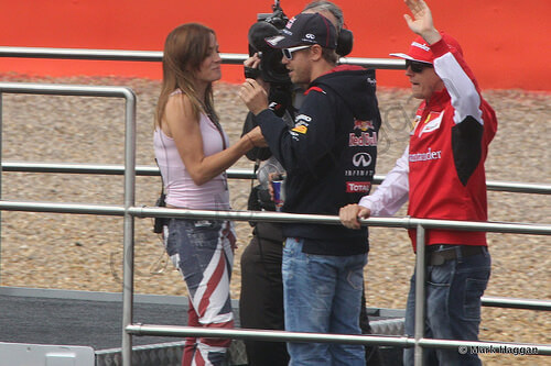 The Drivers Parade at the 2014 British Grand Prix