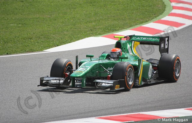 Alexander Rossi racing for the EQ8 Caterham team
