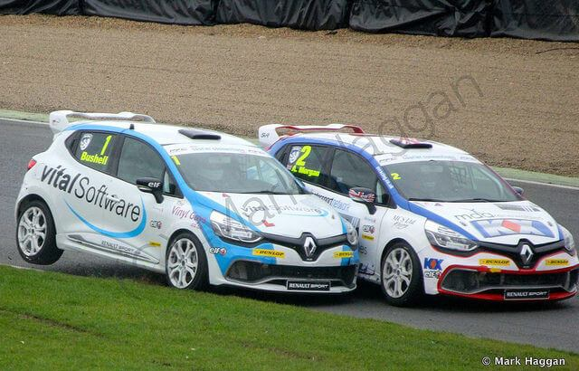 Mike Bushell and Alex Morgan in the Clio Cup