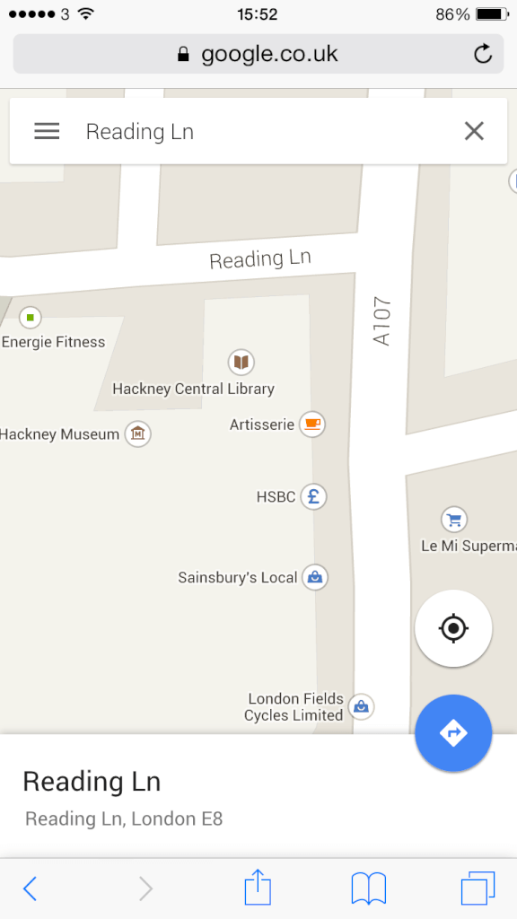 Apt Street Names: Reading Lane