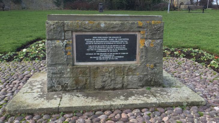The grave of Simon de Montfort