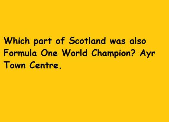 World Champion Ayr Town Centre