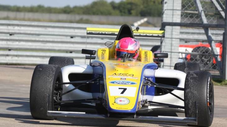 Jessica Hawkins in MSA Formula at Rockingham
