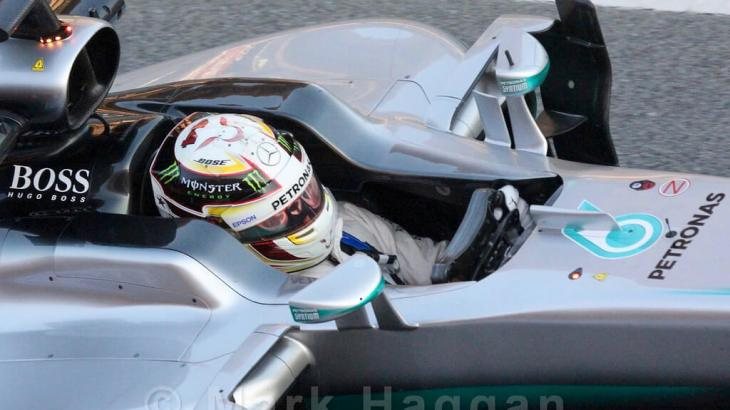 Lewis Hamilton in Formula One Winter Testing 2016