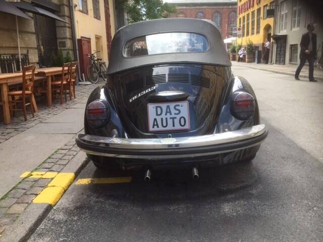 The back of Das Auto