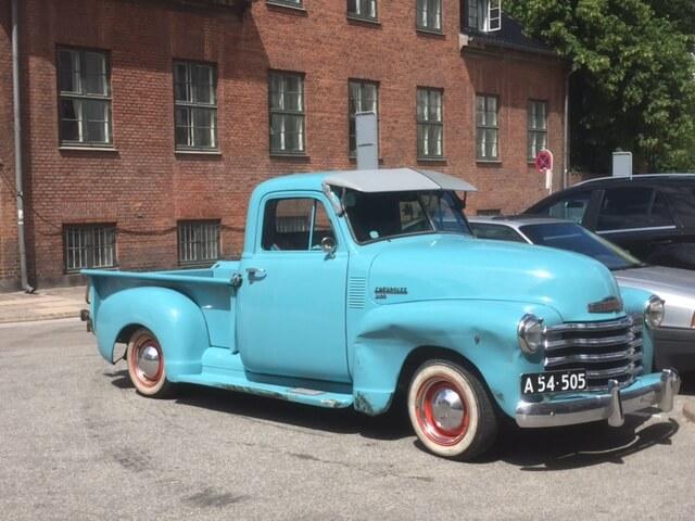A Chevrolet pick up in Copenhagen