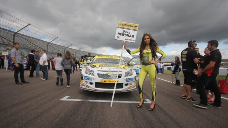 Dave Newsham on the grid at Rockingham