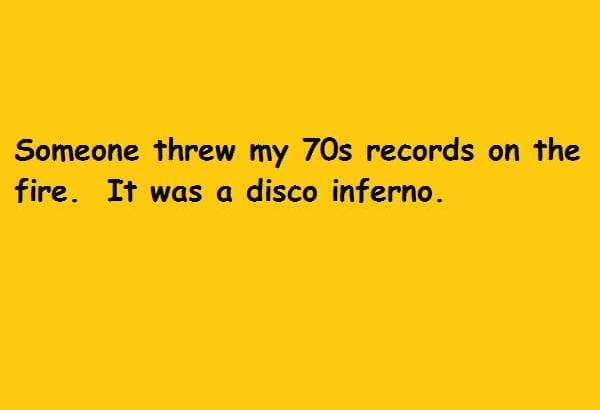 It was a disco inferno