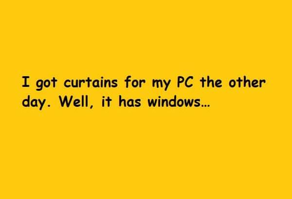 well it has windows