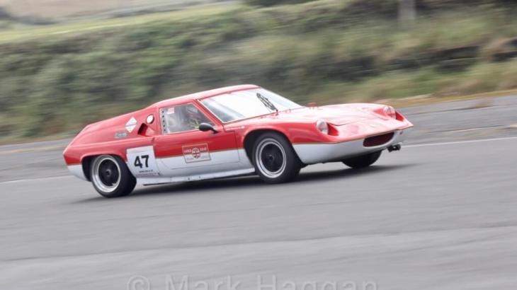 Lotus 47 in HRCA action at Kirkistown