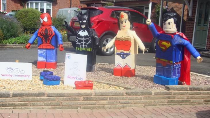 Lego superheroes and Heather Scarecrow Festival