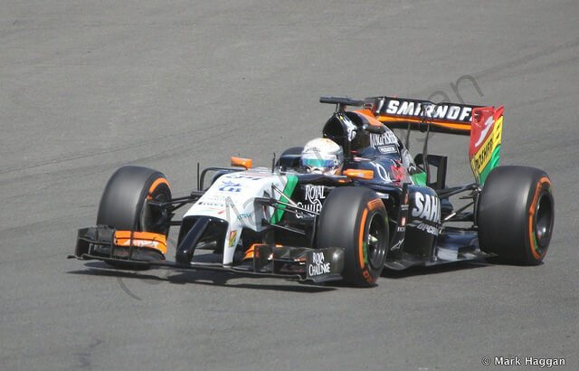 Daniel Juncadella driving a Force India F1 car in 2014
