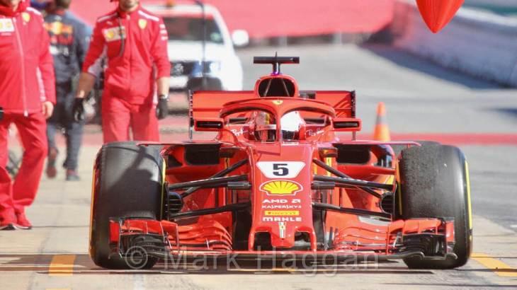 Sebastian Vettel in F1 Winter Testing 2018
