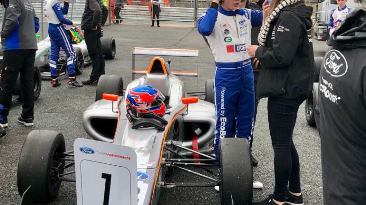 Ayrton Simmons at the first weekend of the British F4 championship 2018