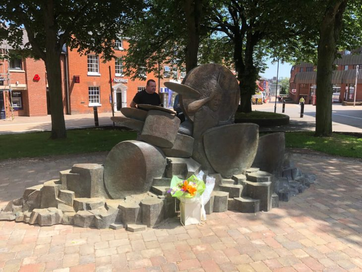 The John Bonham Statue in Redditch