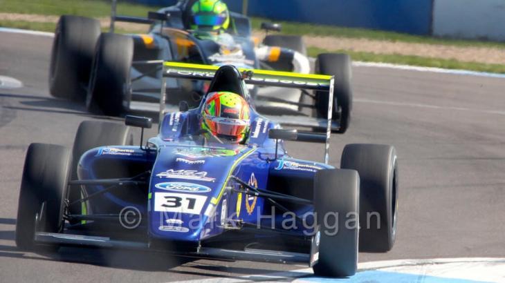 Lando Norris racing in MSA Formula