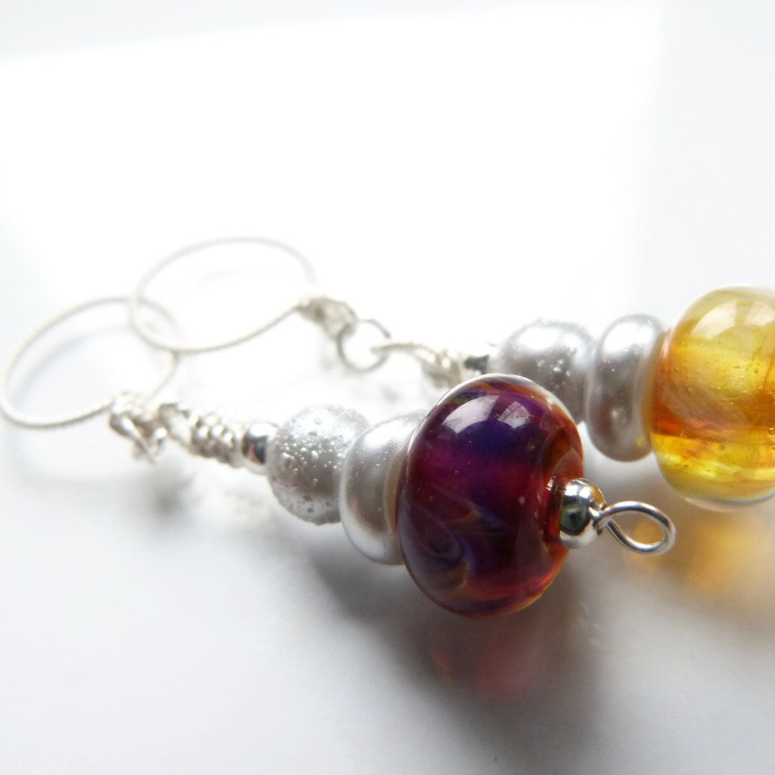 Mystic Fire Knitting Stitch Marker