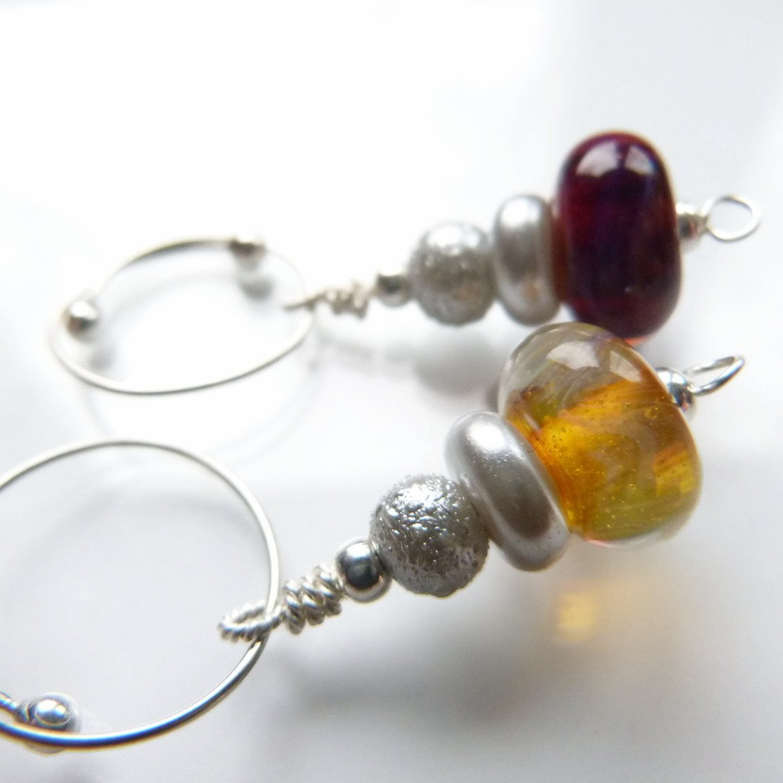 Mystic Fire Removable Locking Stitch Marker