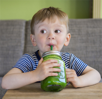 Child-drinking-green-juice