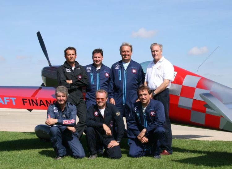 World Aerobatic Championship GBR team 2009 - mark jefferies front row left