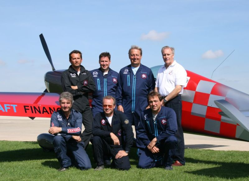 World Aerobatic Championship GBR team 2009 - mark jefferies front row left