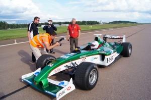 mark jefferies - abarth air display pilot drives Jaguar F1 car