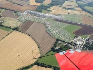Santa Pod aerial photo taken prior to a show by Mark Jefferies Air Displays