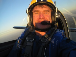Mark Jefferies on a training flight out of Perth