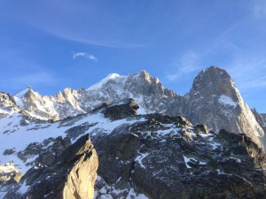 Les Grand Motets with mont blanc retreat below