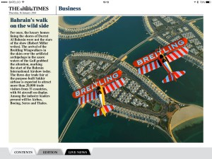 Bahrain Times over Duratt Islands