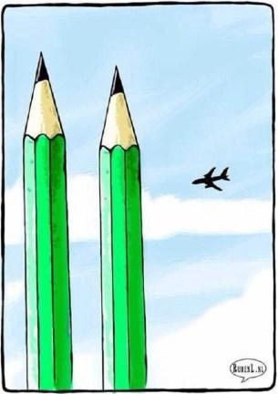 Charlie Hebdo - twin towers