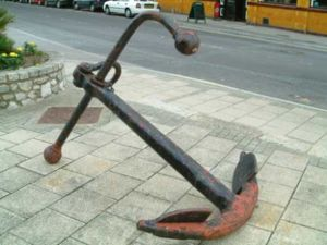 A fisherman's anchor
