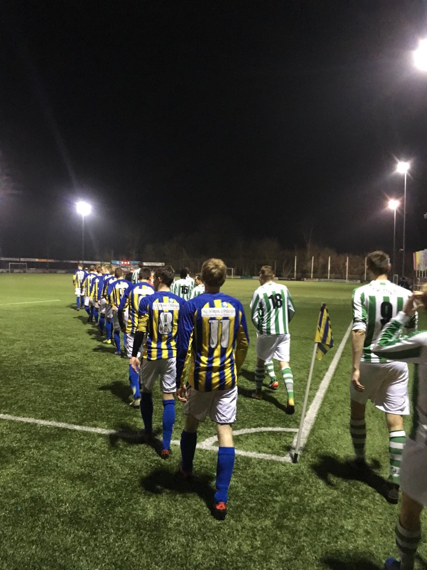 Voetbal: Een overwinning op het laatste moment.