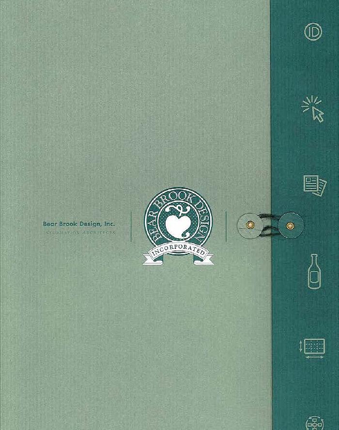 Bear Brook Design - capabilities brochure folder