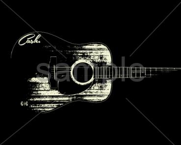 Cash_Guitar - black_Sample