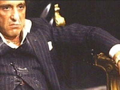Finding happiness: Tony Montana didn't seem too happy.