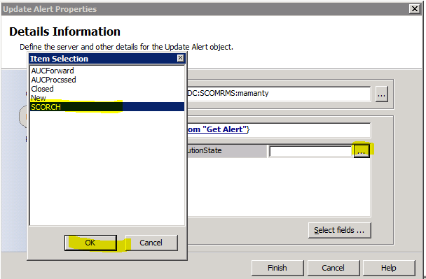 System Center Orchestrator 2012 Updating SCOM alerts using