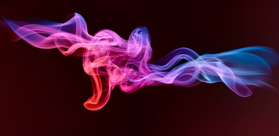 red, blue and purple smoke by london photographer, Mark Mawson