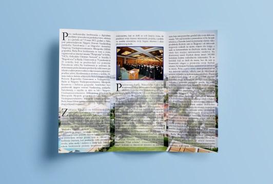 Дизајн тростране брошуре - унутра