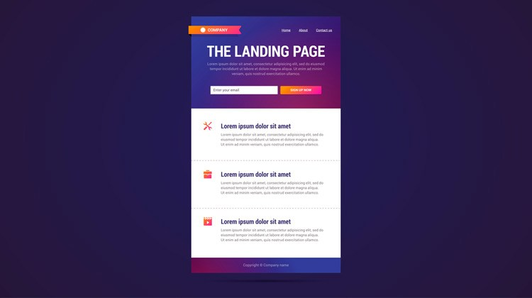 Landing Pages Ejemplo de E-Commerce