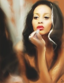 """""""Isis Glamour"""" Digital painting (2010)"""