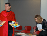 """Images from the performance of: """"Desanctifying the Monastery of Modernism"""" Nov. 26, 2015. Ryerson University."""