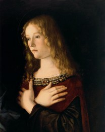 "Giovanni Bellini, ""Sacred Conversation"" (detail) 1490."