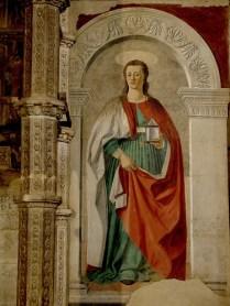 """Piero della Francesca """"St. Mary Magdalen"""" 1460."""