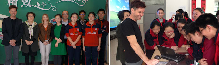Mark Pegrum working on an Australia-China Council Grant in Shanghai (2014)