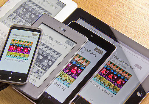 E-books viewed on multiple devices