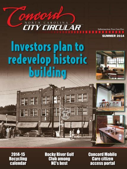 Click here to read about Concord's role in the project and other city news