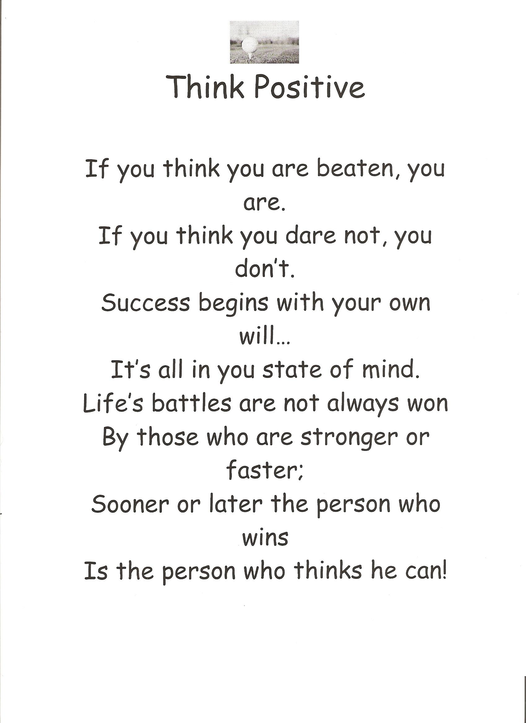 Think Positive I Am